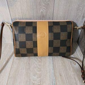 Fendi Vintage Checkered crossbody Bag